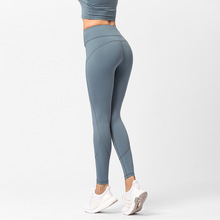 New Autumn Yoga Pants Euro-American Sports Hip-lifting Slim Fitness Apparel Ladies Tight Seamless Nine-minute Pants 15 minute fitness