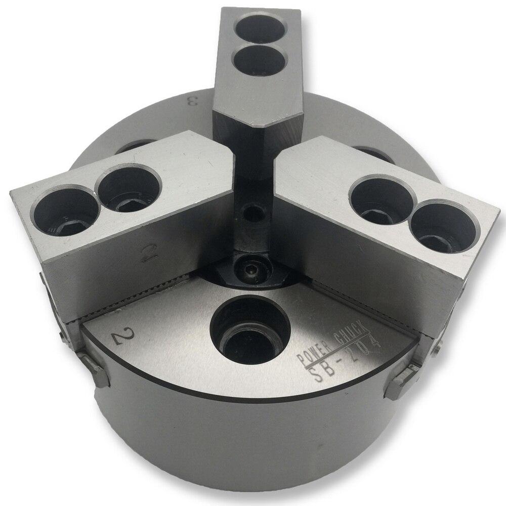 Mzg SB-210 6 8 10 polegada 3 mandíbula oco power chuck para torno cnc ferramenta de corte chato titular buraco usinagem