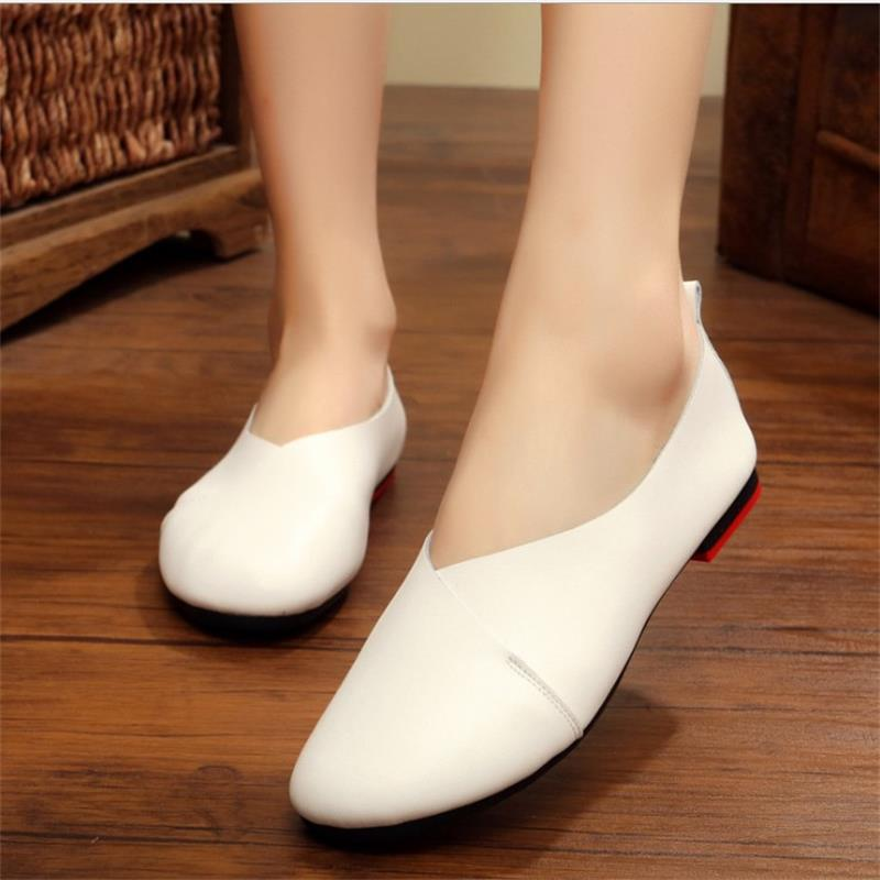 New Fashion 2018 Womens Shoes Casual Summer Flat Shoes Women Soft Vintage Shoes Female Footwear Zapatos Mujer size 35-43 YD711 summer style flat shoes women fashion slip on flats fashion pointed toe footwear ladies cross strap zapatos mujer size 35 39