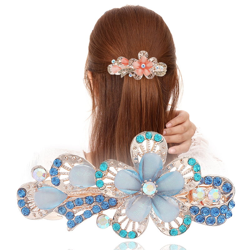 Crystal Hair Clips Resin Hairpins for Women Hair Accessories Natural Stone Hair Barrettes Floral   Headwear   for Wedding Party