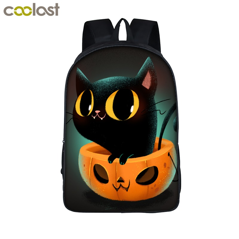 Halloween Children School Bags for Girls Boys Book Bag Crazy Pumpkin Toddler Backpack Women Laptop mochilas Funny Teen Schoolbag
