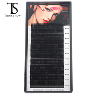 Thinkshow 25Pcs 8 15mm 12Lines/Tray Lashes Eyelash Extension Natural Long Individual Lashes Materials Silk Volume Professional