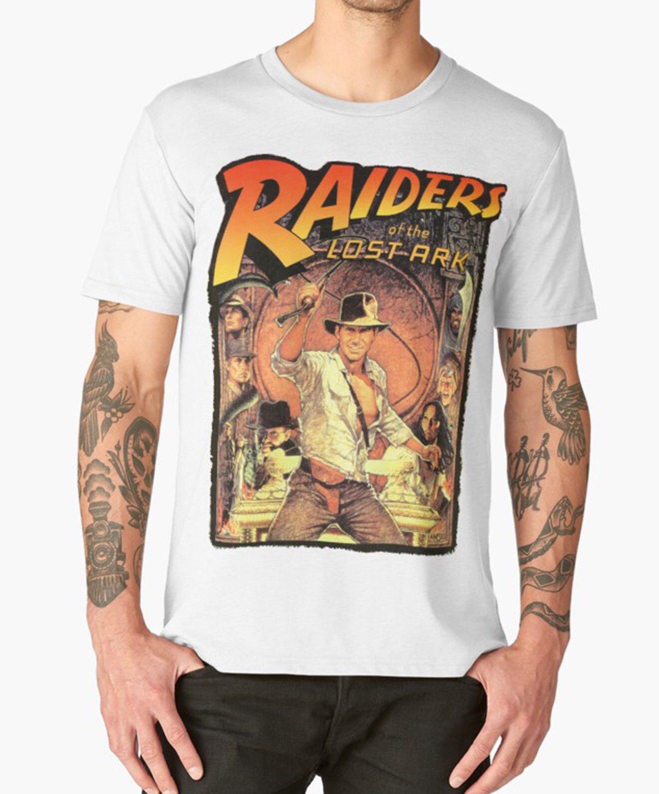 В поисках утраченного ковчега футболка Индиана Джонс 80 s культовый фильм на день рождения ...