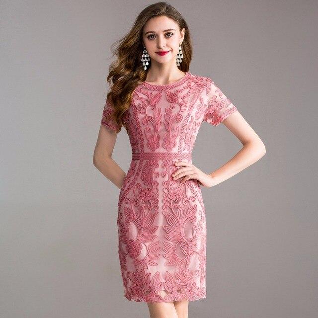 Iş Ofis yaz bahar elbise 2018 yeni Elbise kadınlar zarif bayanlar Parti Elbise artı boyutu 3xl O boyun Paket kalça Kalem elbise