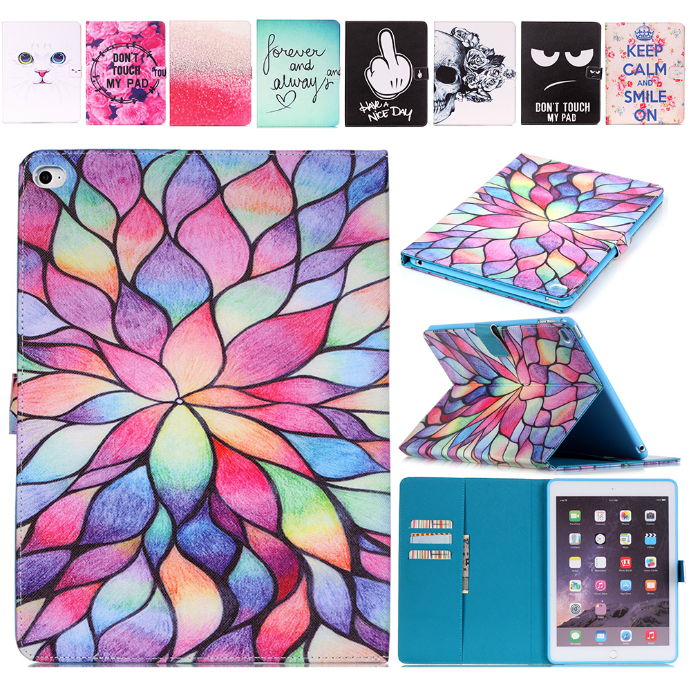 Fashion Cartoon Painted Back Cover For iPad Mini 4 Capa Ultra Thin Slim Case For Apple iPad Mini4 Cases Leather Flip Stand Cover