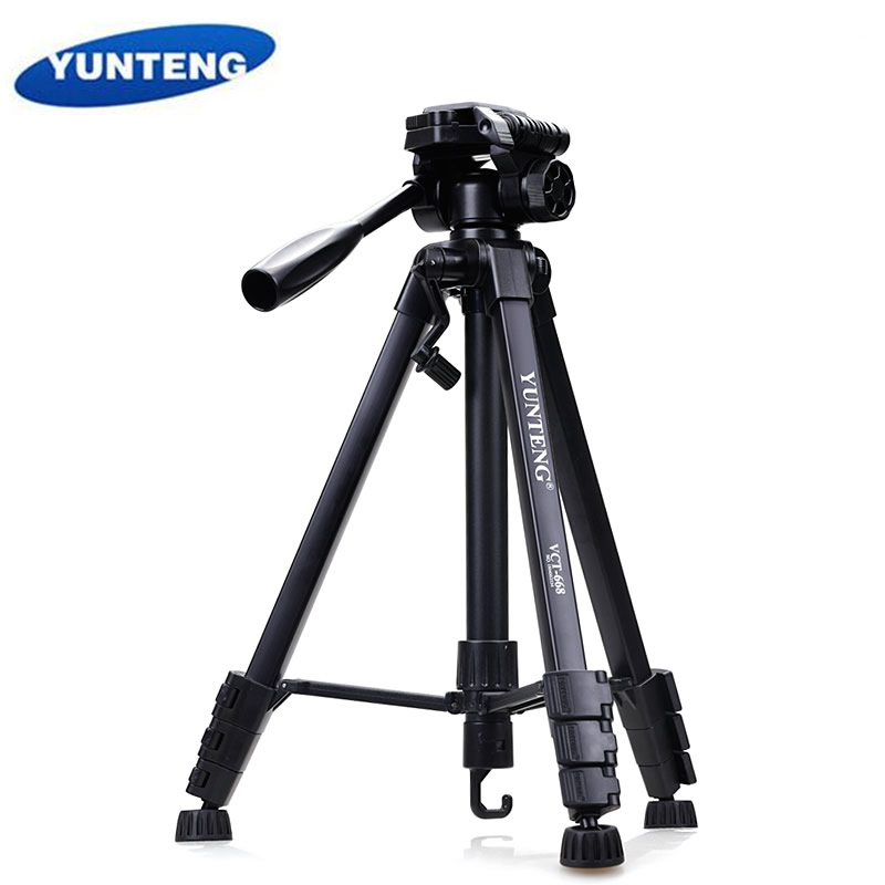 Yunteng 668 Professional Aluminum Tripod Camera Accessories Stand with Pan Head For Canon Nikon Sony SLR