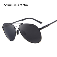 MERRY'S Fashion Aluminum Magnesium Polarized Sunglasses Men Driver Mirror Sun glasses Male Female Eyewear For Men S'8716