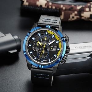 Image 4 - MEGIR Creative Sport Watch Men Relogio Masculino Fashion Brand Luxury Quartz Chronograph Army Military Wrist Watches Clock Men