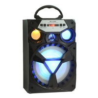 Portable 15W High Power Bluetooth Speaker With LCD Screen Bass Colorful LED Light Support FM Radio