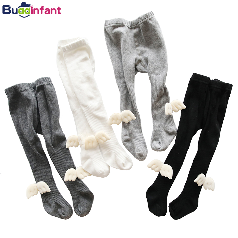 Newborn Girls Baby Tights Soft Cotton Pantyhose with Angel Wings Baby Girl Clothing Accessories Kids Children Girl Knitted Tight girl