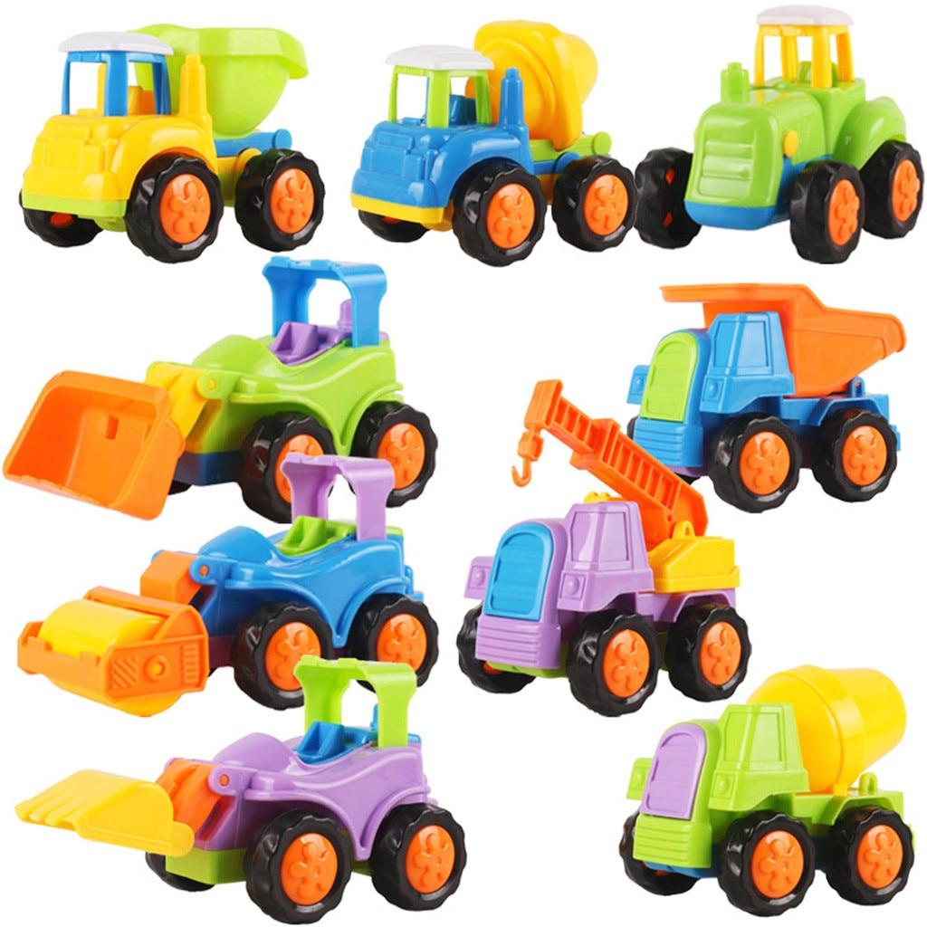 Educatief Speelgoed Push En Gaan Wrijving Aangedreven Auto Speelgoed Set Tractor Grondverzetmachine Mixer Vrachtwagen Bouwvoertuigen Kinderen Games Aangenaam Voor Het Gehemelte