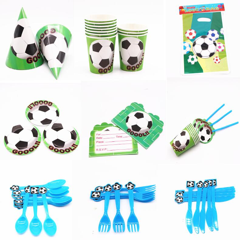 Football Zebra Childrens Birthday Party Tableware Plates Cups Napkins Tablecover