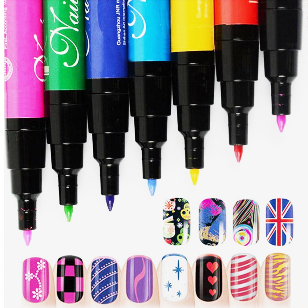 Nail Art Diy Decoration Polish Pen Set 3d Design Beauty Dotting Tools Paint Pens 19 Colors For Choice In From Health On
