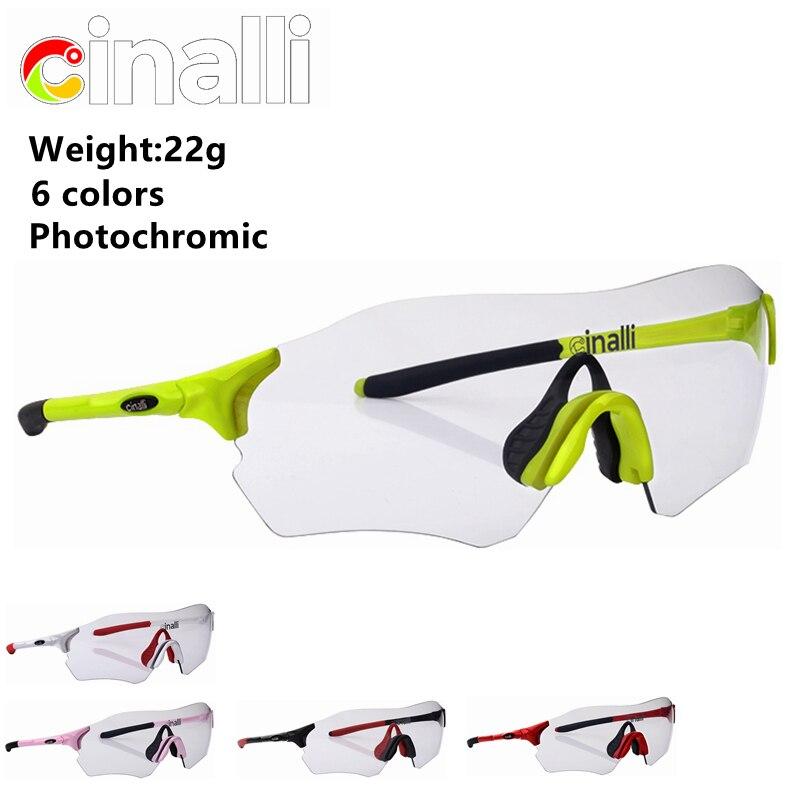 Prix pour Naga siren CINALLI C-098 Photochromiques Lunettes lunettes de Soleil Vélo Racing Googles De Protection TR90 Cadre Verres Polarisés En Polycarbonate