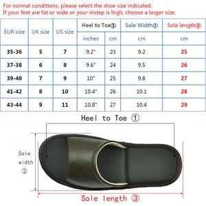 Image 5 - หนัง Sheepskin แท้รองเท้าแตะคู่ Indoor Non SLIP ผู้ชายผู้หญิงหน้าแรกแฟชั่นแบบสบายๆรองเท้าเดี่ยว PVCsoft soles ฤดูใบไม้ผลิฤดูร้อน
