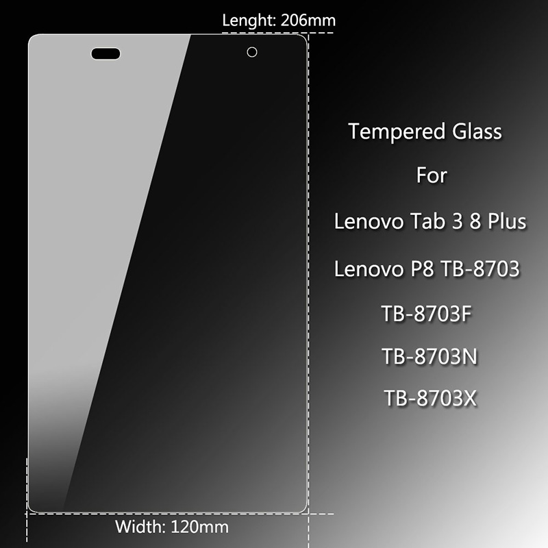 Tempered Glass For Lenovo Tab3 8 Plus P8 TB-8703 Screen Protector Tablet PC Ultra Thin Glass For Lenovo TB-8703F Protective Film