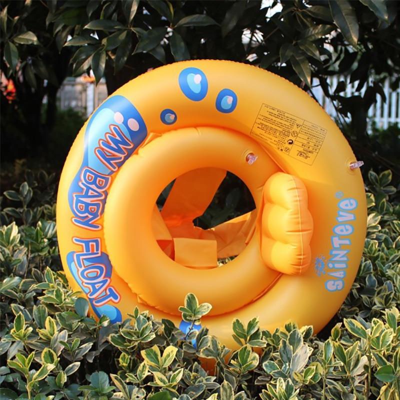 Натуральная Детское плавание кольцо Дети сидят в кругах мягкие сиденья печатается плавать кольцо