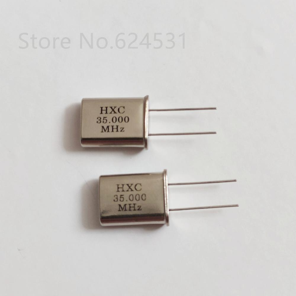 10pcs 49U Quartz Crystal 35M 35.000MHZ HC-49U In-line Two-leg Crystal Resonator