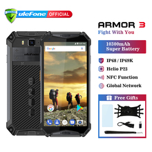 Ulefone power 3 IP68 Водонепроницаемый мобильный телефон Android 8,1 5,7 «FHD + безрамочный экран Octa Core helio P23 4 Гб 64 Гб NFC глобальная версия смартфона