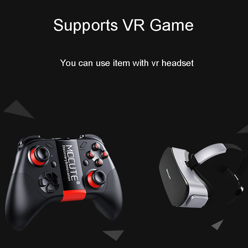 Mocute 054 Game Pad Bluetooth Gamepad Controller Mobile Trigger Joystick For iPhone Android Phone Cell PC Smart TV Box Control