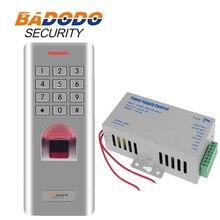 3000 usuarios a prueba de agua IP66 lector de teclado de acceso de huella digital con 12V 5A Bloqueo de puerta lector RFID Control de fuente de alimentación