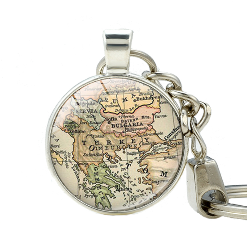 Popular world map keychain buy cheap world map keychain lots from turkey map keychains bulgaria pendant keychain greece pendant key chain turkey world map charm key rings sciox Images