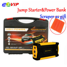 Car Battery Charger Jump Starter Multi-functional Car Power Bank with Smart Clips Cable 600A Peak Current Booster