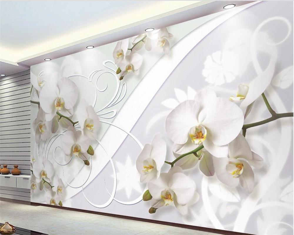 Beibehang Custom wallpaper beautiful European style orchid pattern TV wall 3d wallpaper home decoration wallpaper for walls 3 d beibehang custom wallpaper 3d beautiful