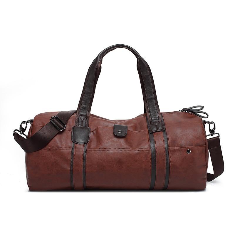 Новинка 2017 года большой Ёмкость открытый Для мужчин спортивный зал Сумка Кожа PU Tote вещевой мешок плеча Многофункциональный Fshion сумка