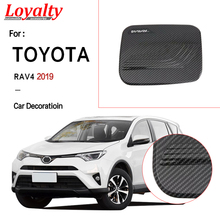 цена на Loyalty For Toyota RAV4 2019  Fuel Tank Cover Gas/Oil Tank Cap Trim Frame Cover ABS Carbon fiber Car Accessories Auto Styling