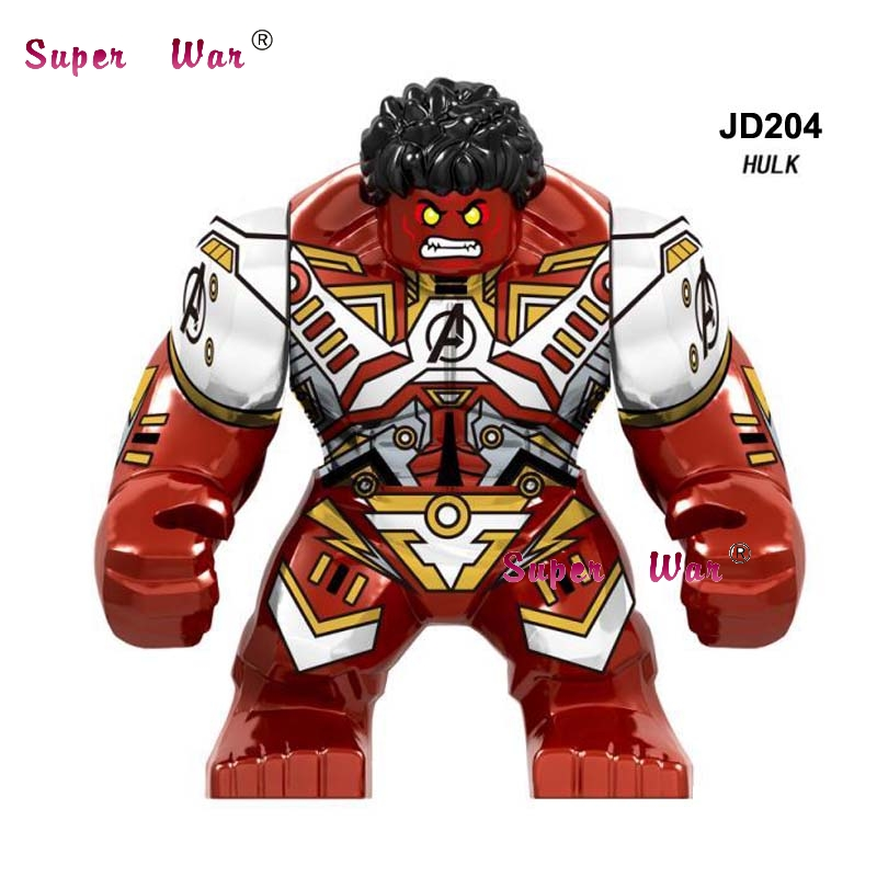 Single Marvel Avengers Endgame Big size Thanos 7CM Red Hulk Iron Man Spiderman Black Panther building blocks Kid Toys