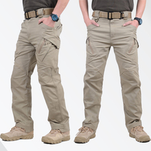 GEJIAN IX9 City Military Tactical Cargo Pants Men SWAT Combat Army Trousers Cotton