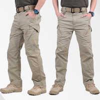 GEJIAN IX9 ciudad táctico militar pantalones hombres SWAT contra ejército pantalones casuales de los hombres Hikling pantalones hombre pantalones de los hombres
