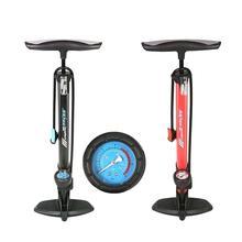 High Pressure Bicycle Pump Presta & Schrader Valve Floor Tire Inflator with Barometer Gauge for Bike Electrombile and Car цена