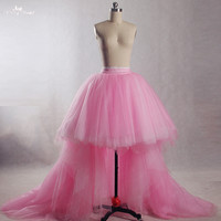 RSK5 Real Pictures Yiaibridal Seperate Skirt Front Short Long Back Pink Puffy Tulle Wedding Skirt