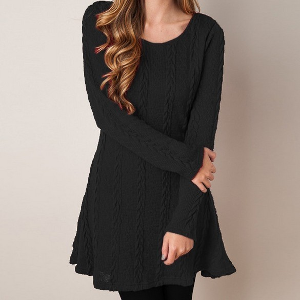 Women Causal Plus Size S 5xl Short Sweater Dress Female Autumn