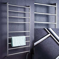 Free shipping stainless steel 304 wall mounted polish electric rack heated towel rail towel warmer/dryer/radiators HZ 925A