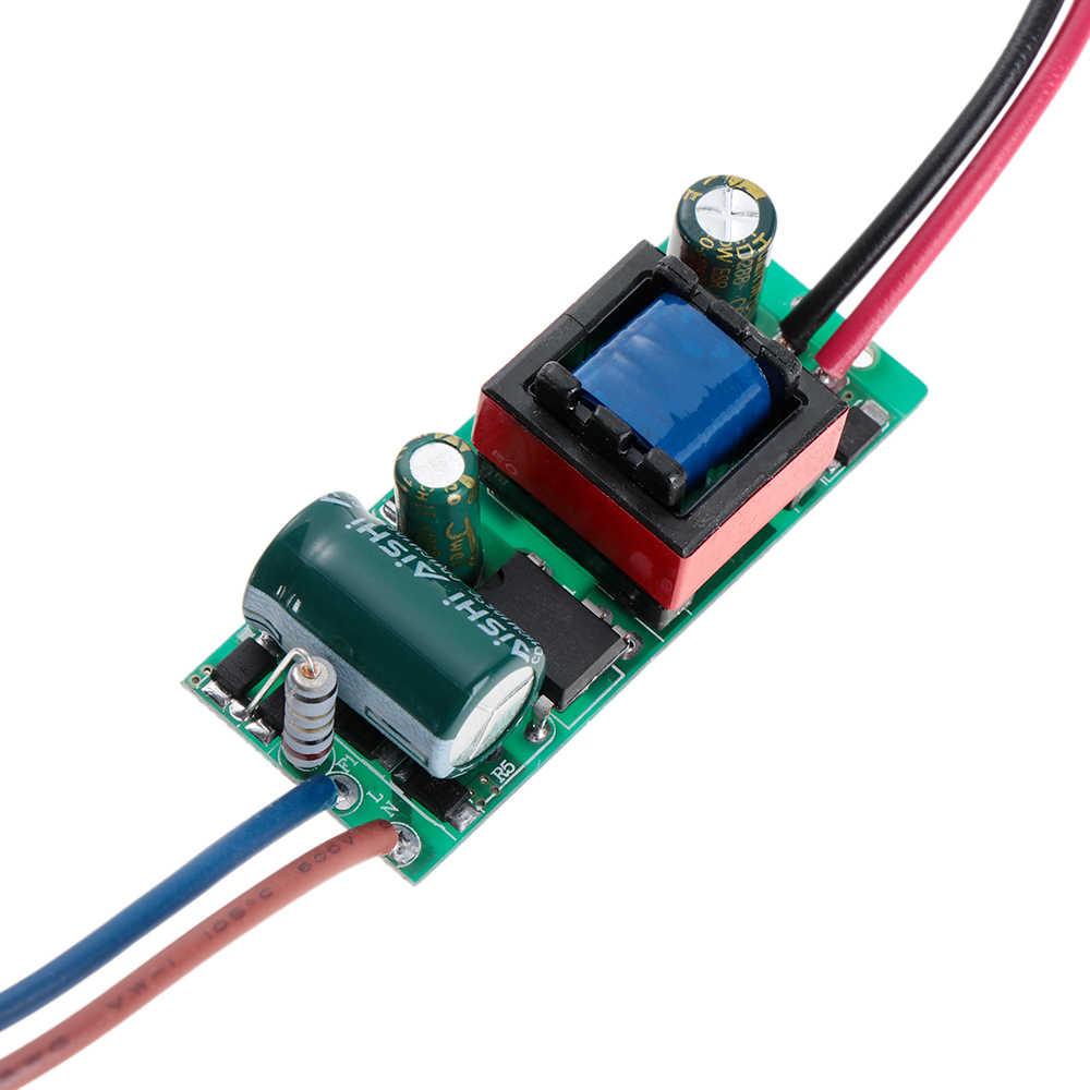 AC 85-265 в светодиодный драйвер 3-24 Вт Питание трансформатор постоянного тока адаптер переключатель для блок питания светодиодной ленты светильник аксессуар