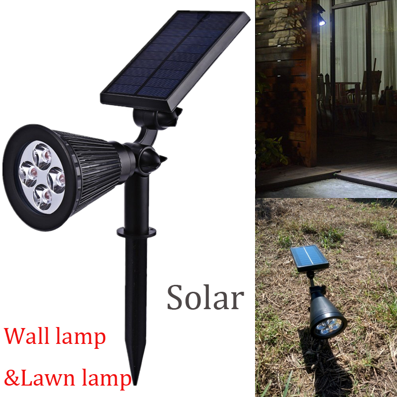 LED Solar Powered Spotlight Rechargeable Landscape Lights