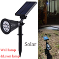 LED Solar Powered Spotlight Rechargeable Landscape lights Waterproof Wall Security Light for Patio Lawn Garden Backyards