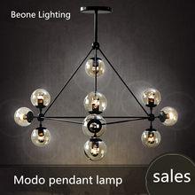10 cabeças de decoração LED modo âmbar Lustre de vidro sala de estar da sala de jantar bar AC90-265V frete grátis 10 lâmpadas globo de vidro