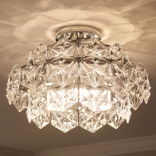 Modern high quality crystal ceiling lamp Jane European creative bedroom lamps round restaurant Ceiling Lights Light fixture