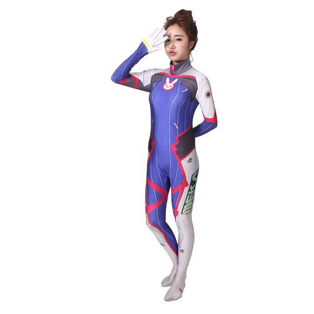 402c971e3c132 d.va cosplay spandex Costume suit Lycra d va dva Cosplay Zentai Adults Kids  halloween