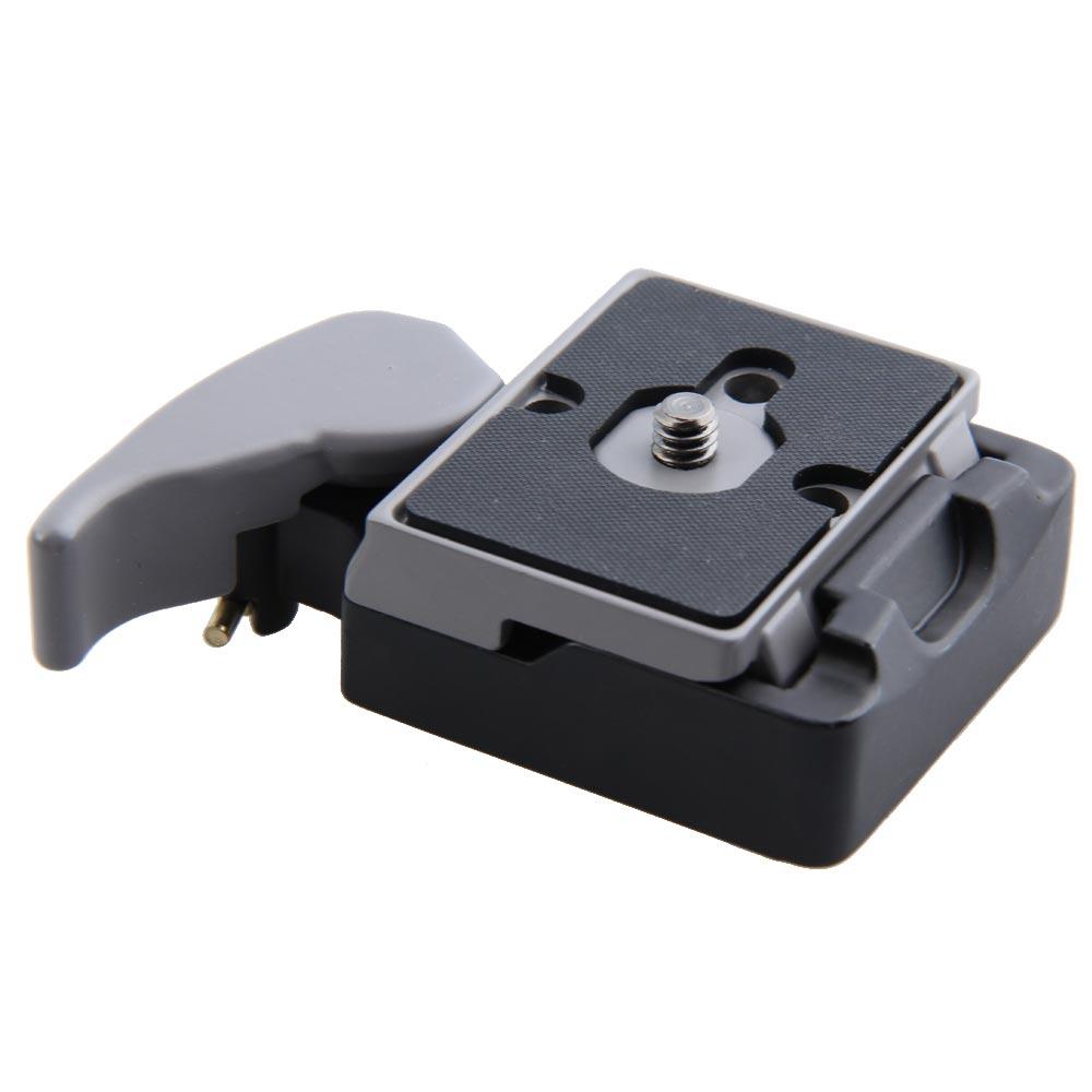Schwarz Kamera 323 Schnellwechseladapter mit Manfrotto 200PL-14 Compat Platte BS88 HB88