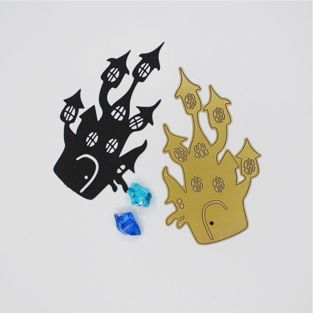 Metal Cutting Dies Halloween haunted House DIY Metal Cutting Dies Stencil Embossing Card Craft Scrapbooking Embossing