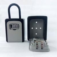4 Digit Combination Lock Key Safe Storage Box Padlock Security Home Outdoor Supplies XXM8