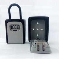 4 Digit Combination Lock Key Safe Storage Box Padlock Security Home Outdoor Supplies XXM8