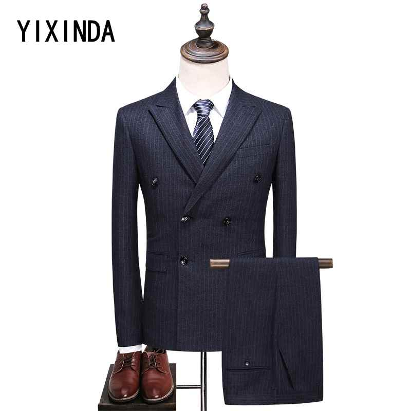 High-quality 2018 new mens suit. Business casual three-piece business suit big code S-5xl