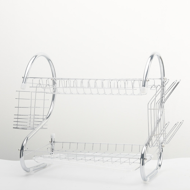 Kitchen Silver Iron Utensils Rack