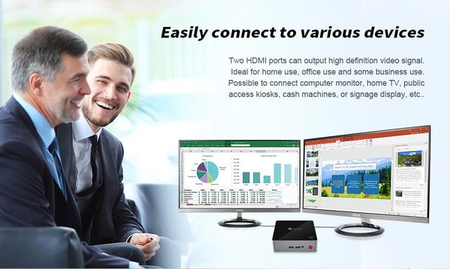 Beelink J45 8GB 128GB J4205 Genuine Windows 10 Mini PC 128/256/512GB 2.4GHz+5.8GHz WiFi BT4.0 Support Netfix 4K H.265 2